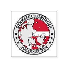 "Denmark Copenhagen LDS Miss Square Sticker 3"" x 3"""