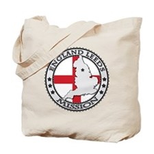 England Leeds LDS Mission Flag Cutout Map Tote Bag