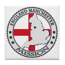 England Manchester LDS Mission Flag C Tile Coaster