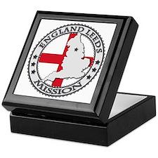 England Leeds LDS Mission Flag Cutout Keepsake Box