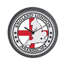 England London LDS Mission Flag Cutout  Wall Clock