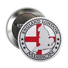 """England London LDS Mission Flag Cutou 2.25"""" Button"""