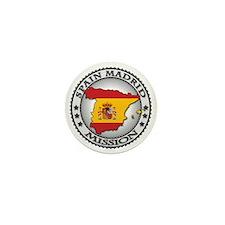 Spain Madrid LDS Mission Flag Cutout M Mini Button