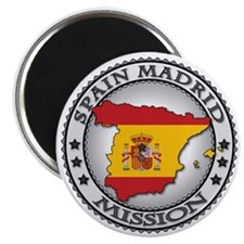 Spain Madrid LDS Mission Flag Cutout Map Magnet