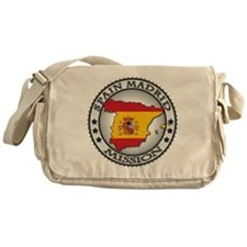 Spain Madrid LDS Mission Flag Cutout Messenger Bag