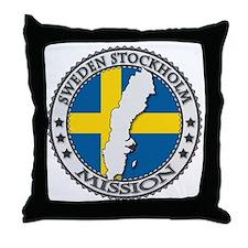 Sweden Stockholm LDS Mission Flag Cut Throw Pillow