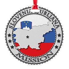 Slovenia Ljubljana LDS Mission Flag Ornament