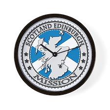 Scotland Edinburgh LDS Mission Flag Cut Wall Clock