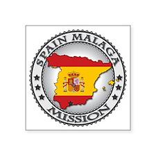 """Spain Malaga LDS Mission Fl Square Sticker 3"""" x 3"""""""