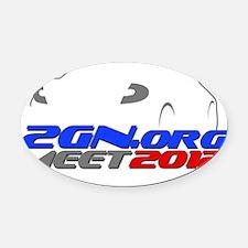 2012-meet_Dark Oval Car Magnet