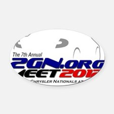 2012-meet_front Oval Car Magnet