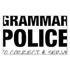 Grammar Police Decal