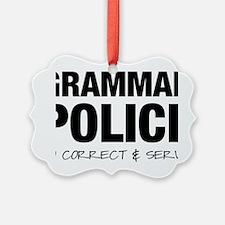 Grammar Police Ornament