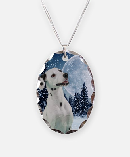 DalWinterCard Necklace Oval Charm