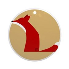 fox Round Ornament