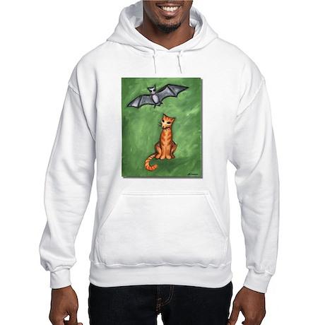 Cat and Bat Hooded Sweatshirt