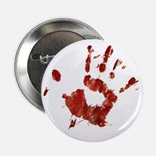 """Bloody Handprint Right 2.25"""" Button"""