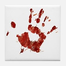 Bloody Handprint Right Tile Coaster