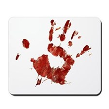 Bloody Handprint Right Mousepad
