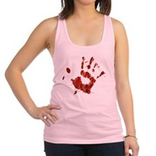 Bloody Handprint Right Racerback Tank Top