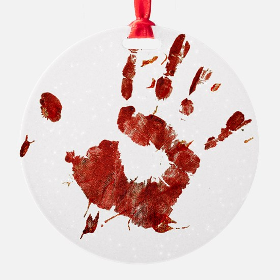 Bloody Handprint Right Ornament