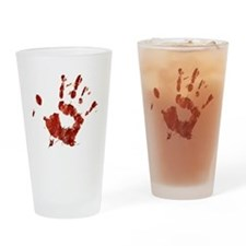 Bloody Handprint Right Drinking Glass