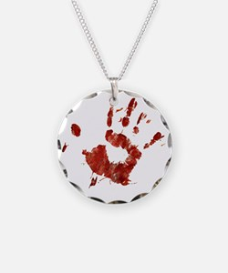 Bloody Handprint Right Necklace