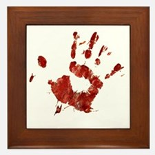 Bloody Handprint Right Framed Tile