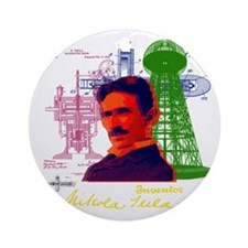 tesla Round Ornament