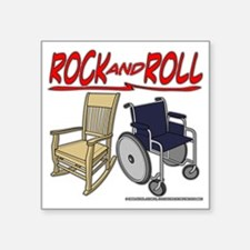 "Rock and Roll Square Sticker 3"" x 3"""