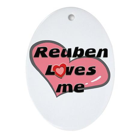 reuben loves me Oval Ornament