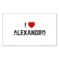 I * Alexandro Rectangle Decal