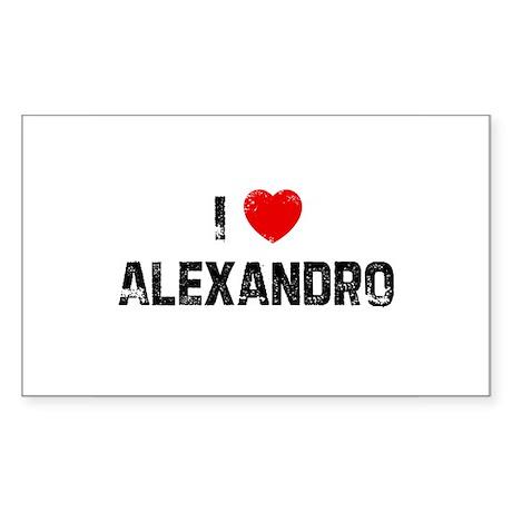 I * Alexandro Rectangle Sticker