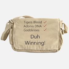 Tigers blood light Messenger Bag