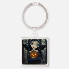 October Woods Square Keychain