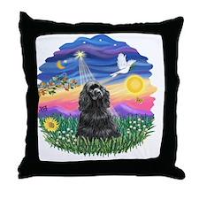 Twilight-BlackCocker Throw Pillow