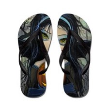 October Woods Halloween Vampire Flip Flops