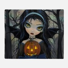 October Woods Halloween Vampire Throw Blanket