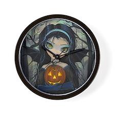 October Woods Halloween Vampire Wall Clock