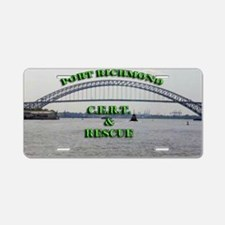 prlogo large Aluminum License Plate