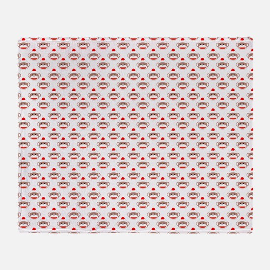 robinsampson_cu_papers_sock_monkey01 Throw Blanket