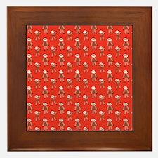 robinsampson_cu_papers_sock_monkey03 Framed Tile