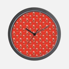 robinsampson_cu_papers_sock_monkey03 Wall Clock