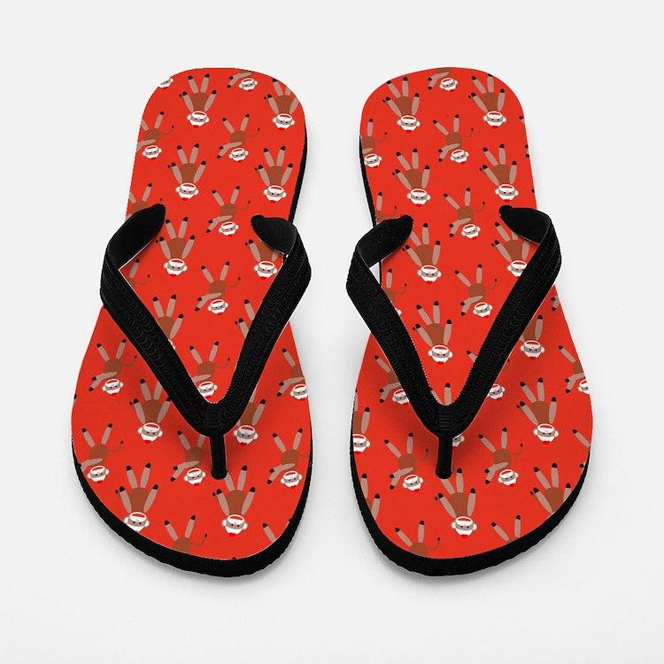 robinsampson_cu_papers_sock_monkey03 Flip Flops