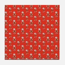 robinsampson_cu_papers_sock_monkey03 Tile Coaster