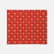 robinsampson_cu_papers_sock_monkey03 Throw Blanket