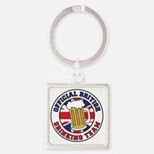 British Drinking Team Square Keychain