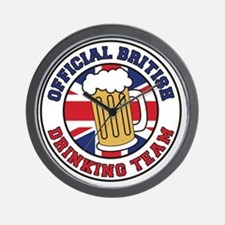 British Drinking Team Wall Clock
