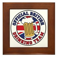 British Drinking Team Framed Tile