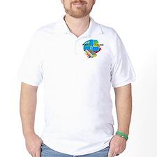 First Communion IHS Blue Cross T-Shirt